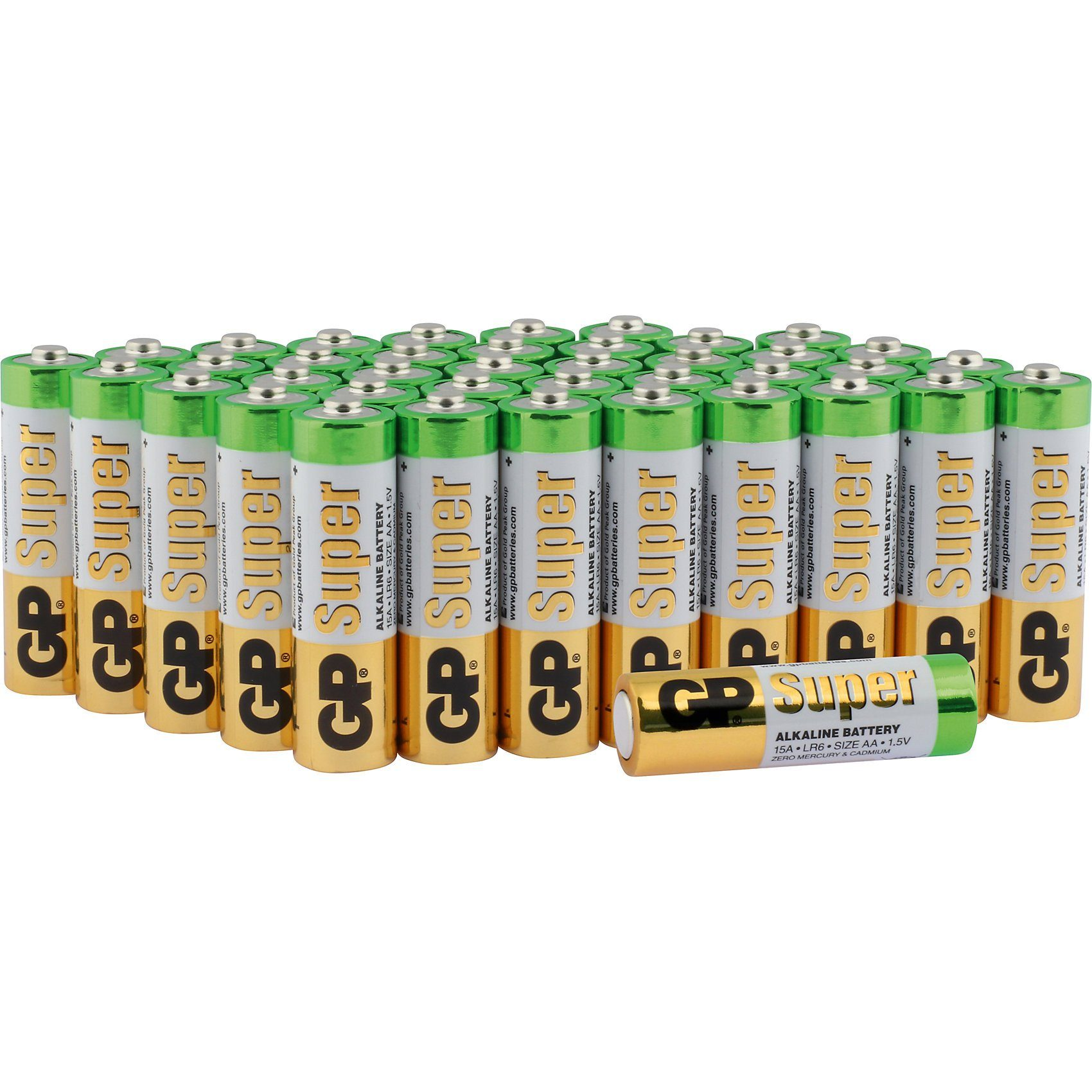 Alkaline Batterien Multipack AA, Mignon, LR 06 (40er Pack)