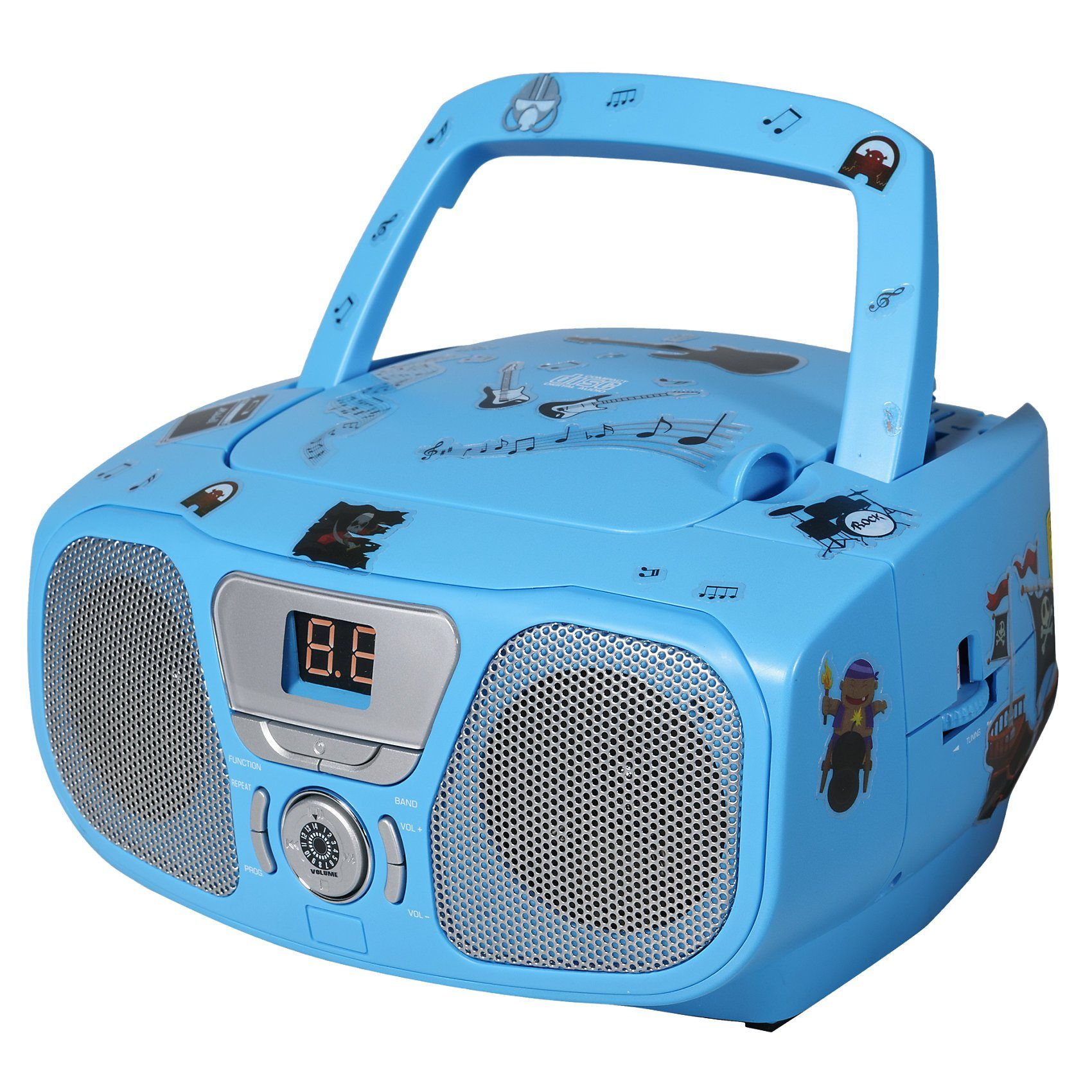 bigben CD-Player mit Radio CD 46 Kids blau