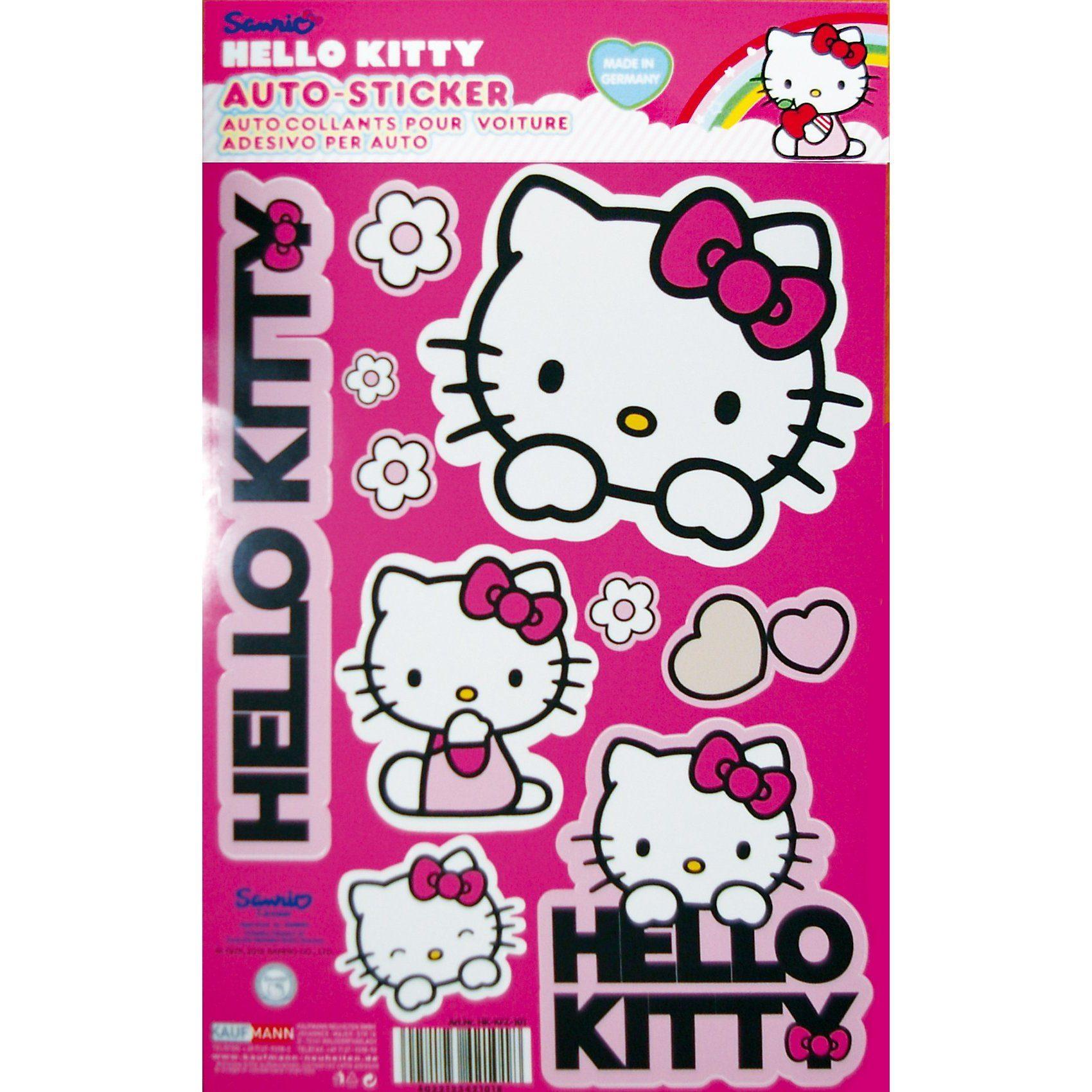 Kaufmann Hello Kitty Auto-Aufkleber-Set