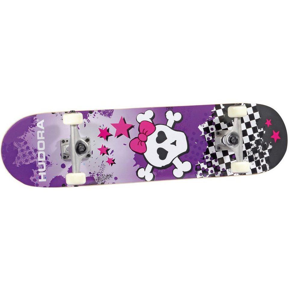 Hudora Skateboard Skull, ABEC 5 in lila