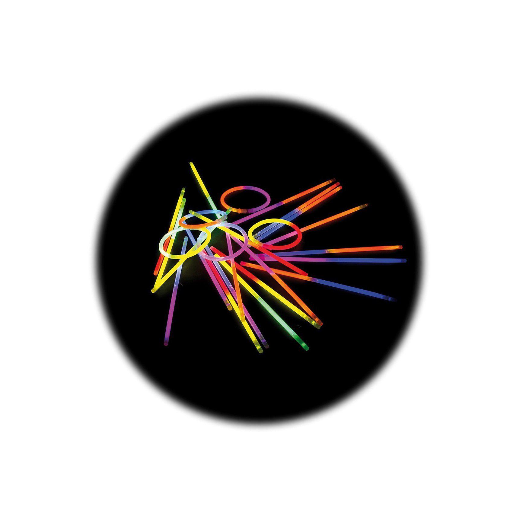 Knicklichter 25er Pack - zweifarbig - mit Verbinder für Arm