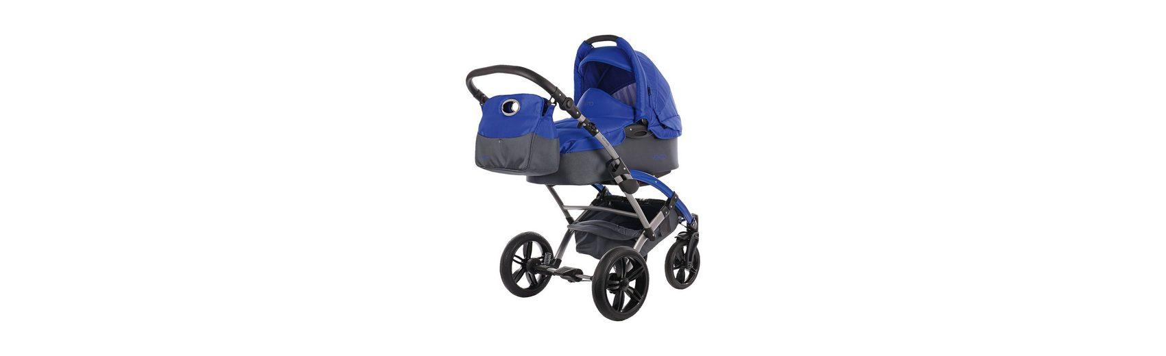 knorr-baby Kombi Kinderwagen Voletto Sport mit Wickeltasche, grau-blau