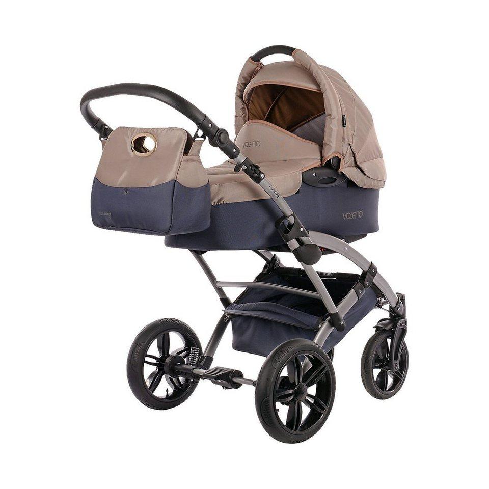 knorr-baby Kombi Kinderwagen Voletto Sport mit Wickeltasche, grau-sand in grau/beige