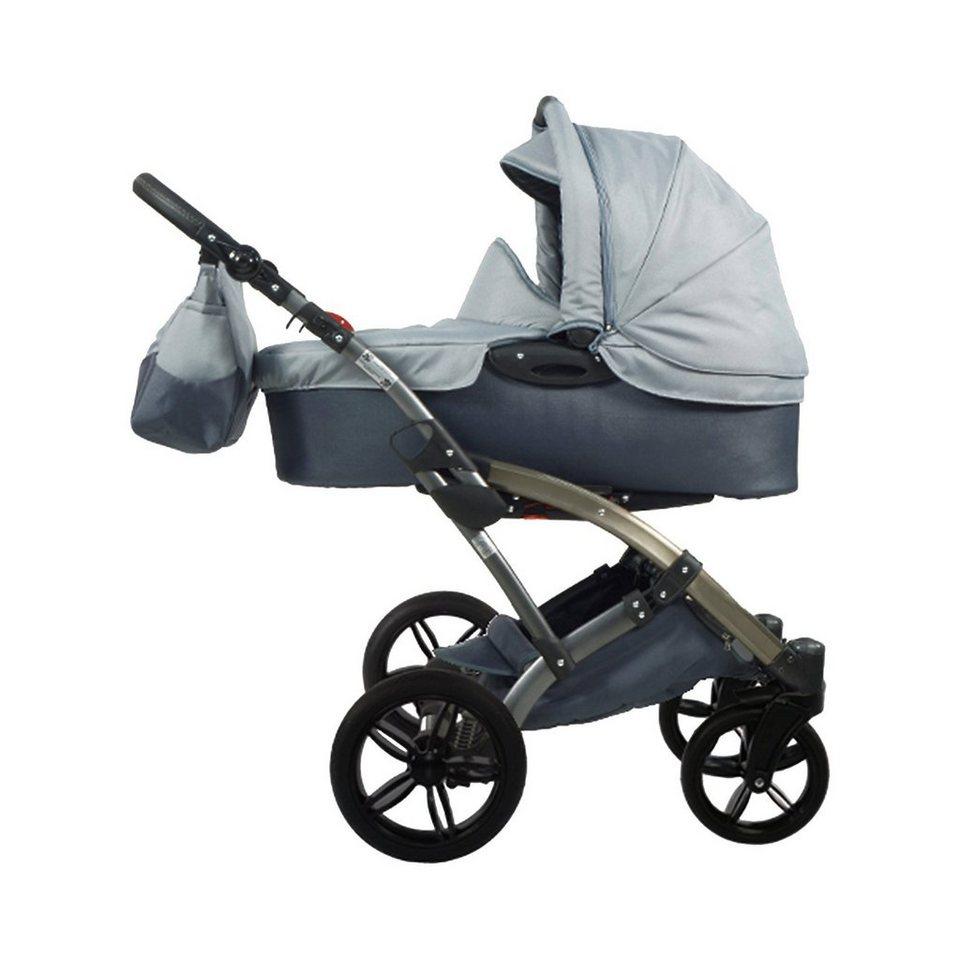 knorr-baby Kombi Kinderwagen Voletto Sport mit Wickeltasche, grau in grau