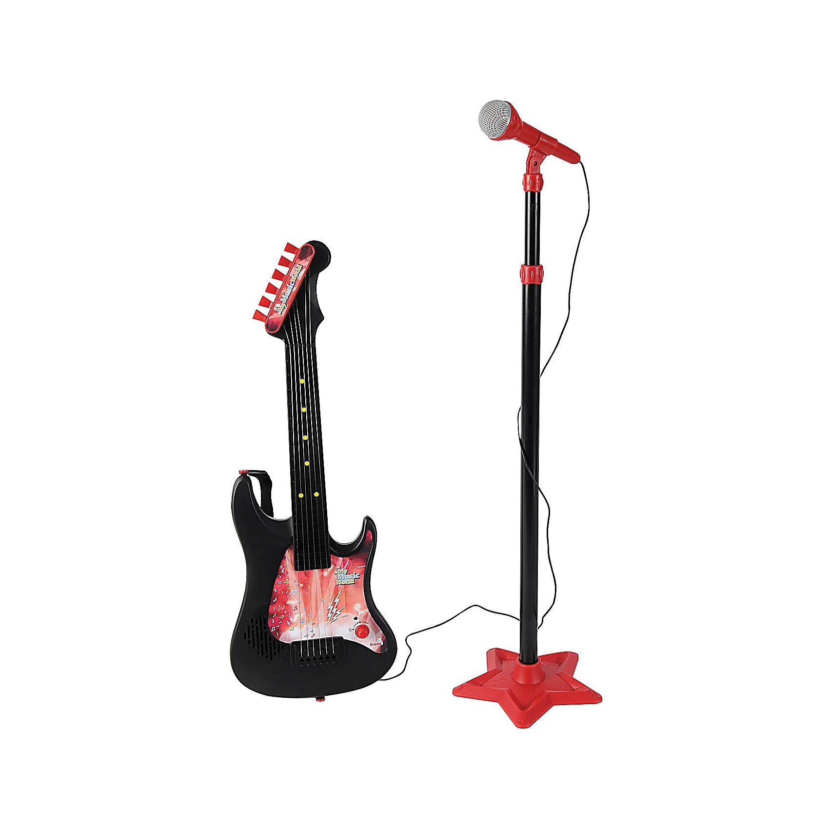 Simba Gitarre mit Standmikrofon