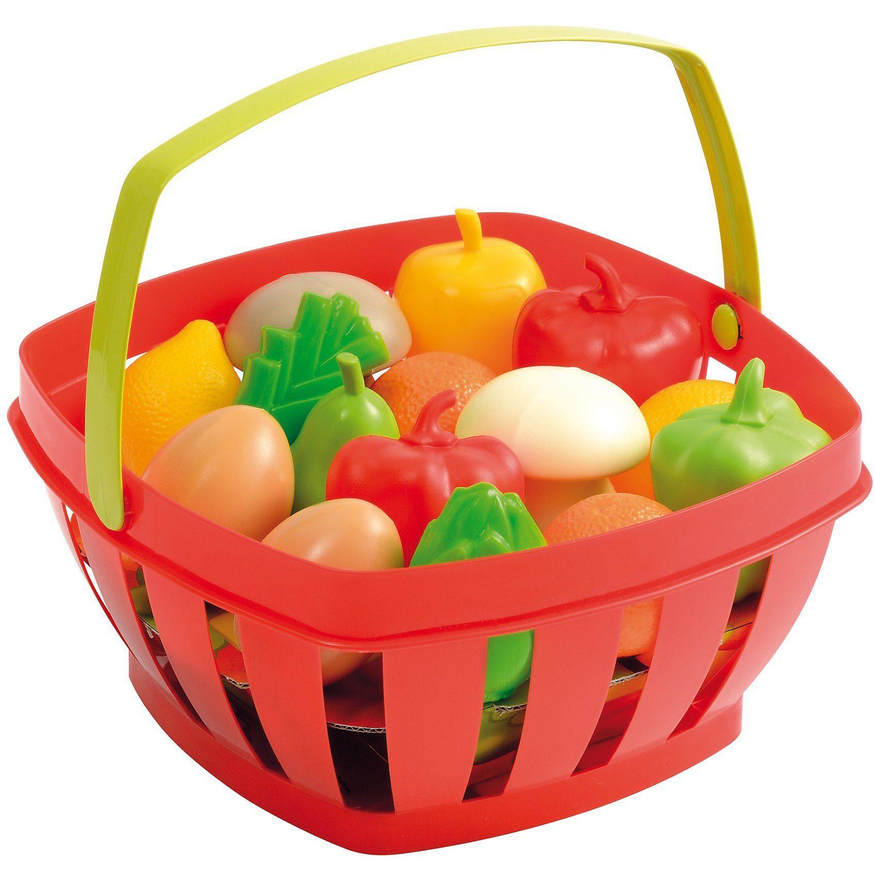 écoiffier Einkaufskorb mit Gemüse und Früchten