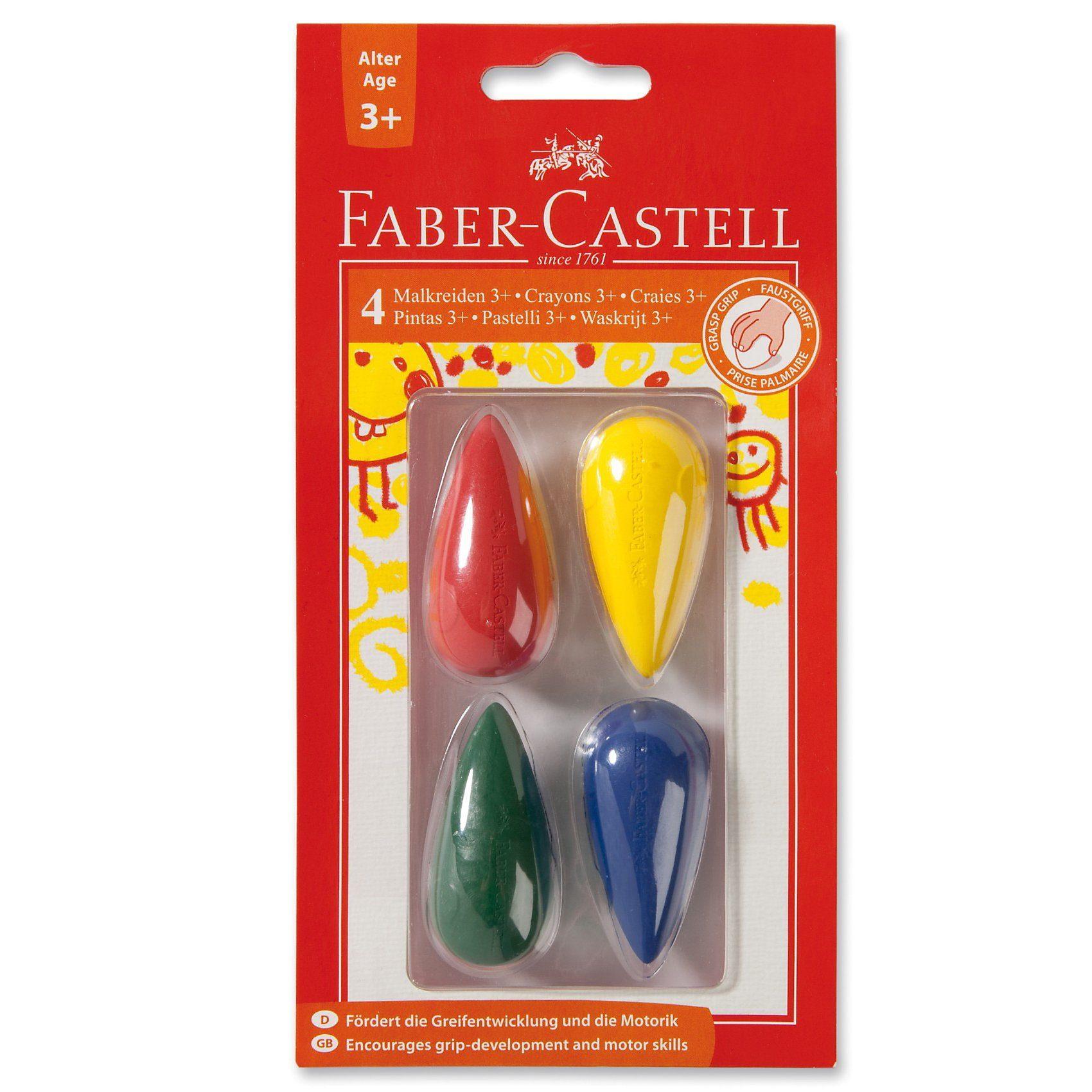 Faber-Castell Kleinkind-Wachsmalkreiden, Birnenform, 4 Farben