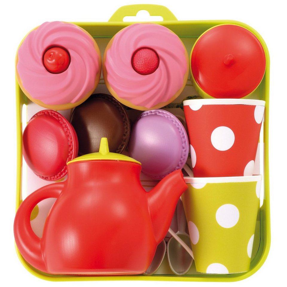 ecoiffier tee set tablett mit cupcakes spielgeschirr. Black Bedroom Furniture Sets. Home Design Ideas