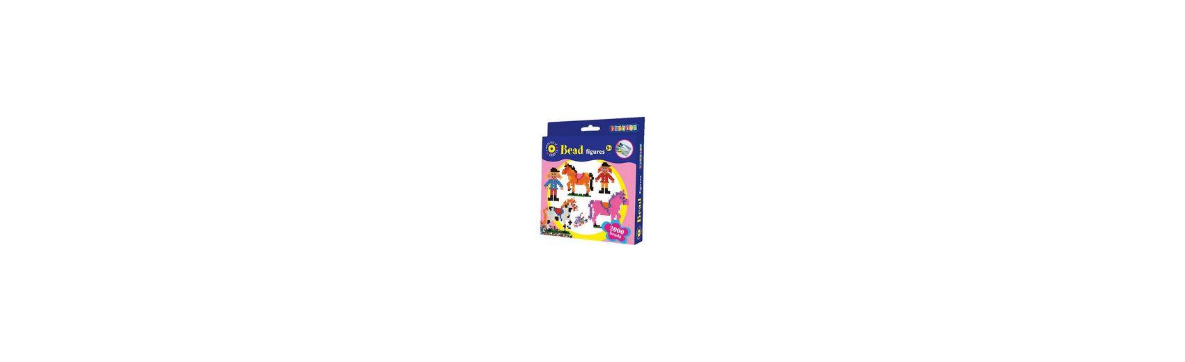 Playbox Bügelperlenset Pferde, 2000 Perlen & Zubehör