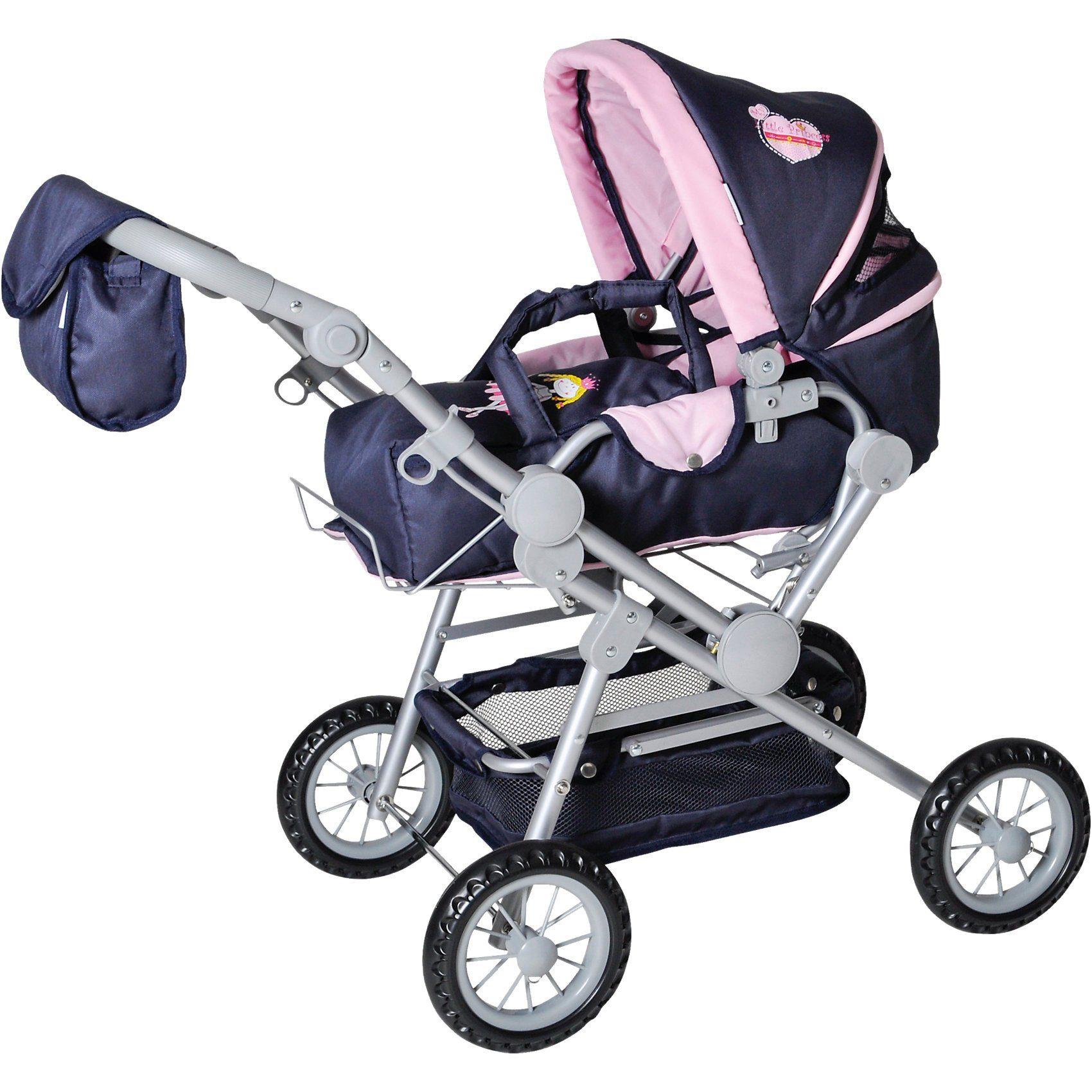 KNORRTOYS.COM Twingo Puppenwagen Kombi Blau/Rosa