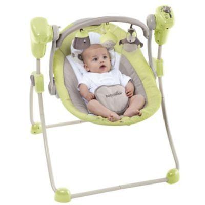Babymoov Babyschaukel Bubble, braun/mandelgrün