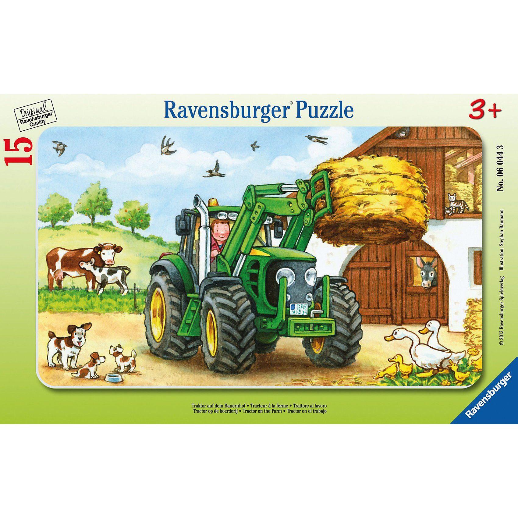 Ravensburger Puzzle Traktor auf dem Bauernhof 15 Teile