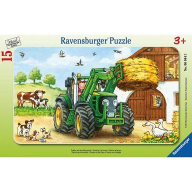 ravensburger puzzle traktor auf dem bauernhof 15 teile. Black Bedroom Furniture Sets. Home Design Ideas
