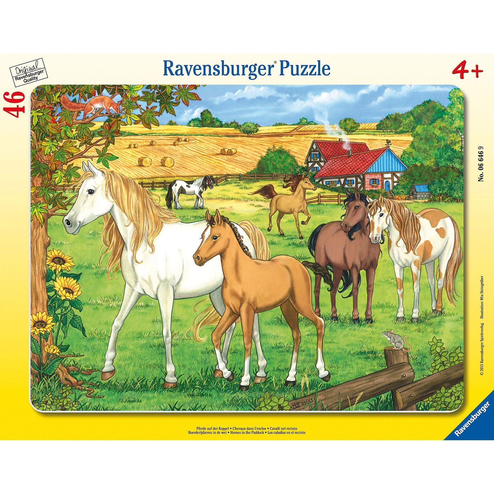 Ravensburger Puzzle Pferde auf der Koppel 46 Teile