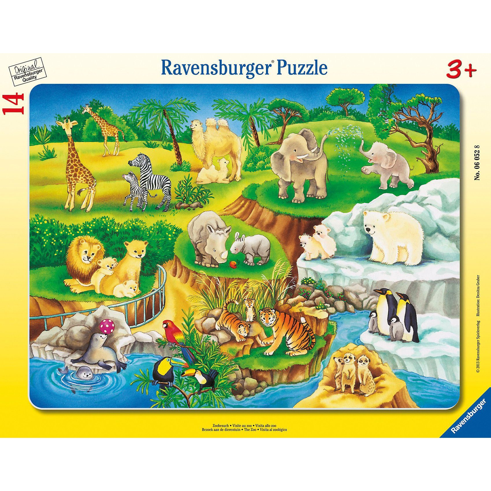 Ravensburger Puzzle Zoobesuch 14 Teile