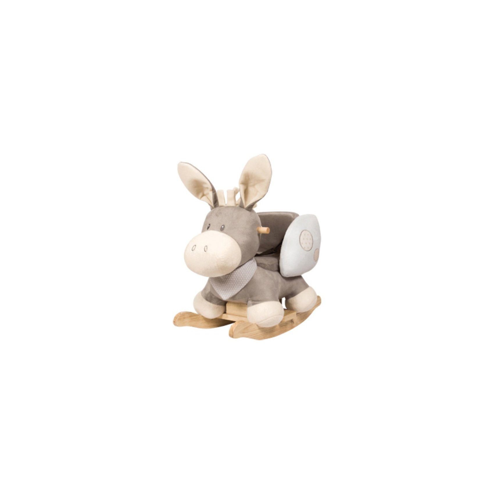 Nattou Schaukeltier Esel, Cappuccino, grau