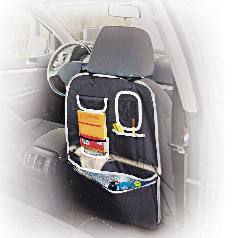 Kaufmann Auto- Rückenlehnentasche mit Kühltasche in schwarz