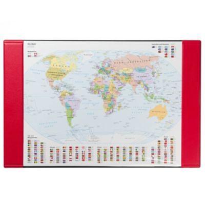 Idena Schreibunterlage, Weltkarte