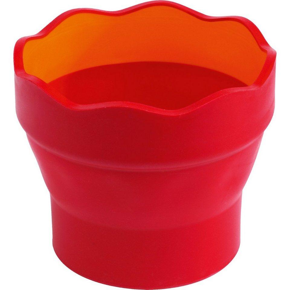 Faber-Castell CLIC & GO Wasserfaltbecher rot/Orange online kaufen