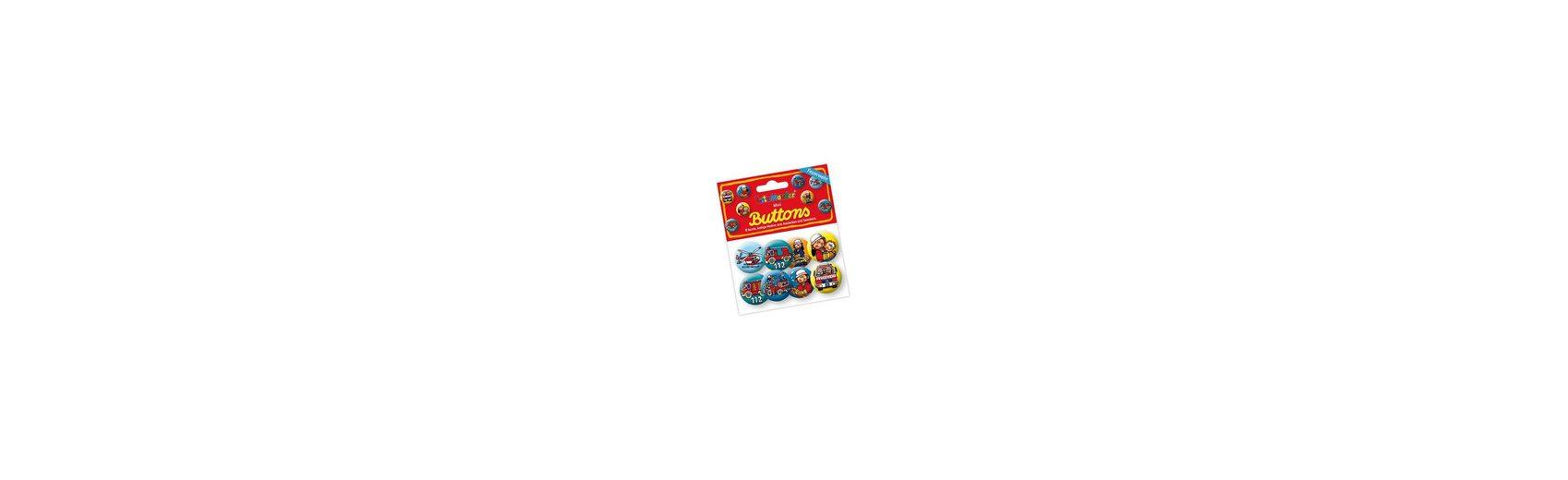 Lutz Mauder Verlag Mini-Button-Set Feuerwehrmann Benny Brandmeister, 8 Stück