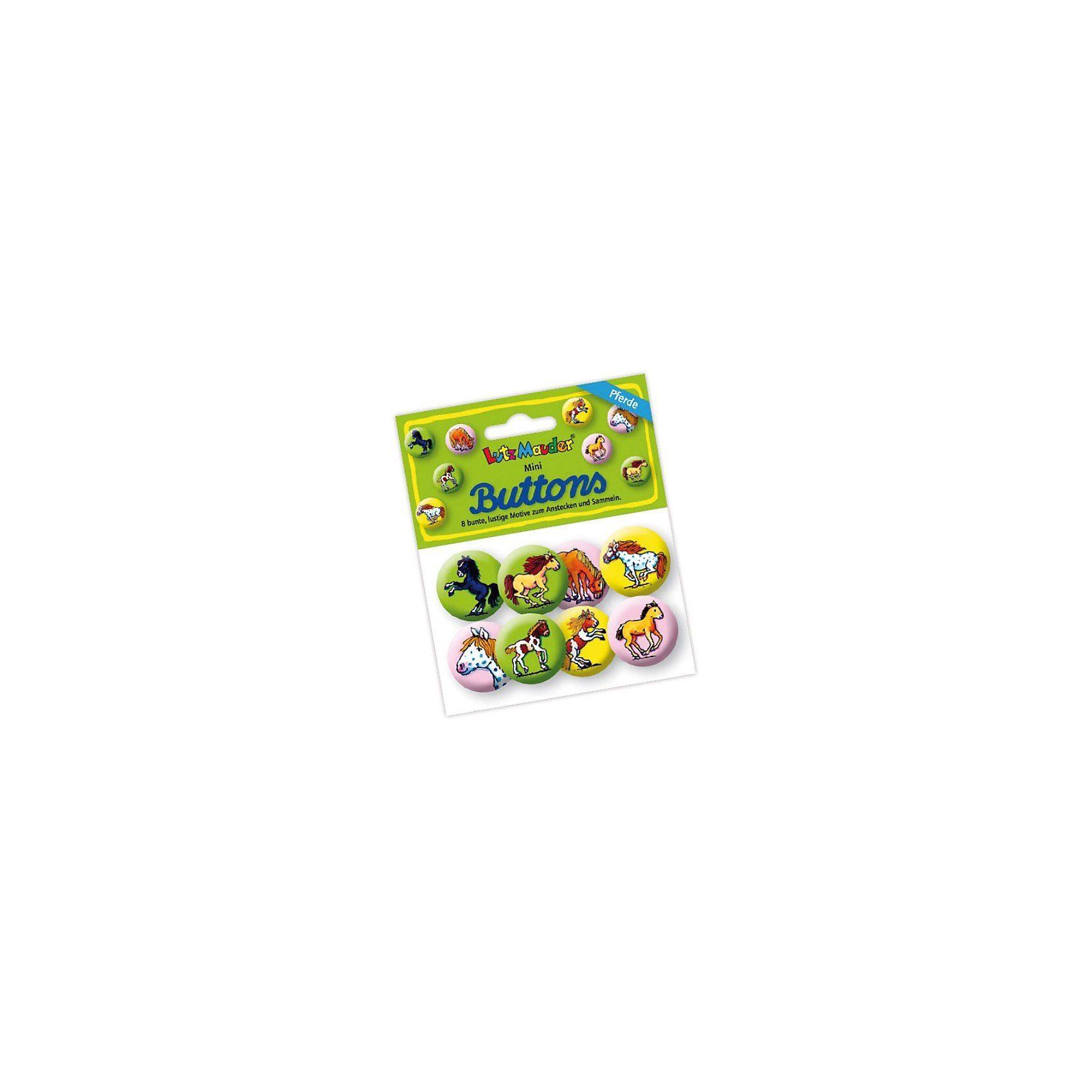 Lutz Mauder Verlag Mini-Button-Set Mein Ponyhof, 8 Stück