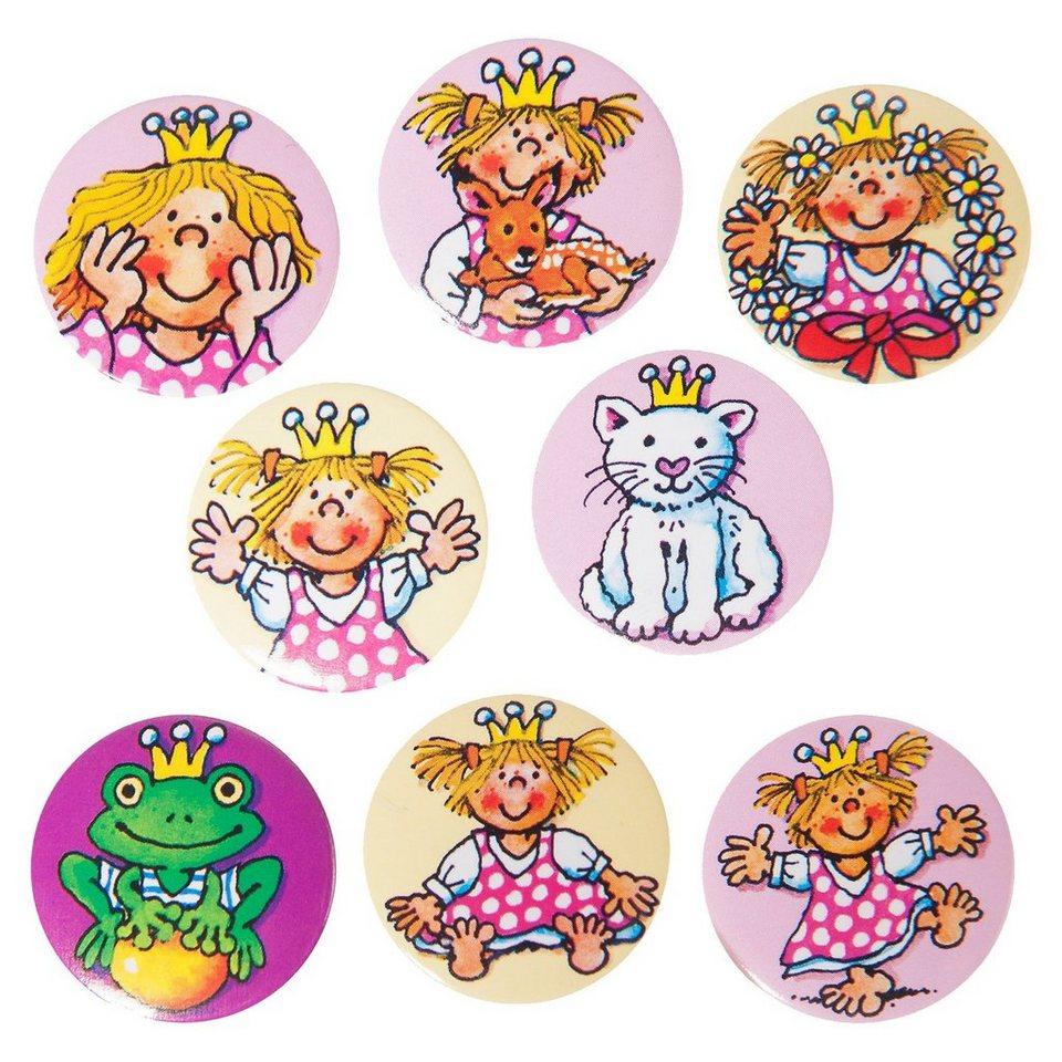 Lutz Mauder Verlag Mini-Button-Set Prinzessin Miabella, 8 Stück
