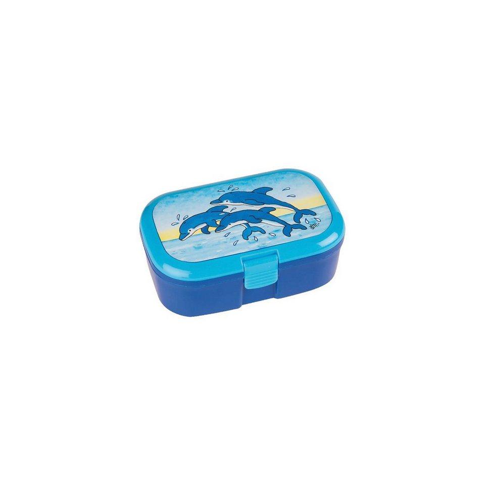 Lutz Mauder Verlag Brotdose Delfine in blau