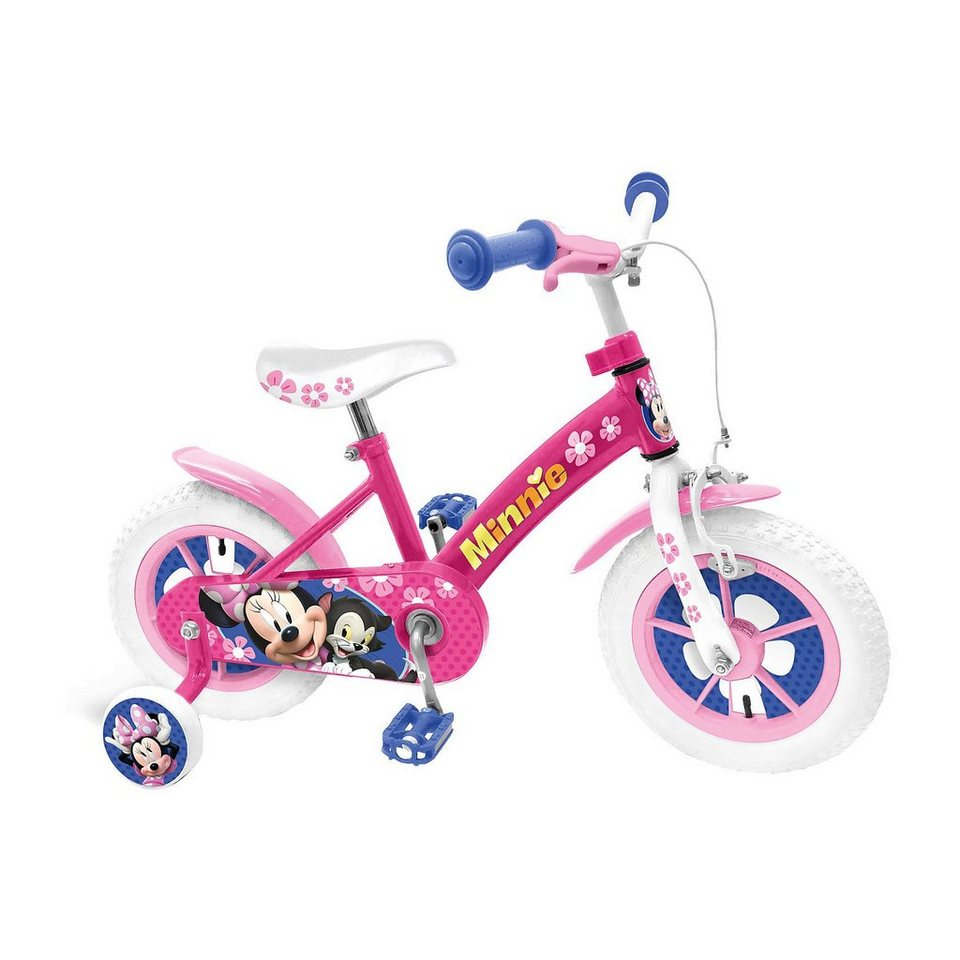 Stamp Minnie Mouse Kinderfahrrad, 12 Zoll in pink