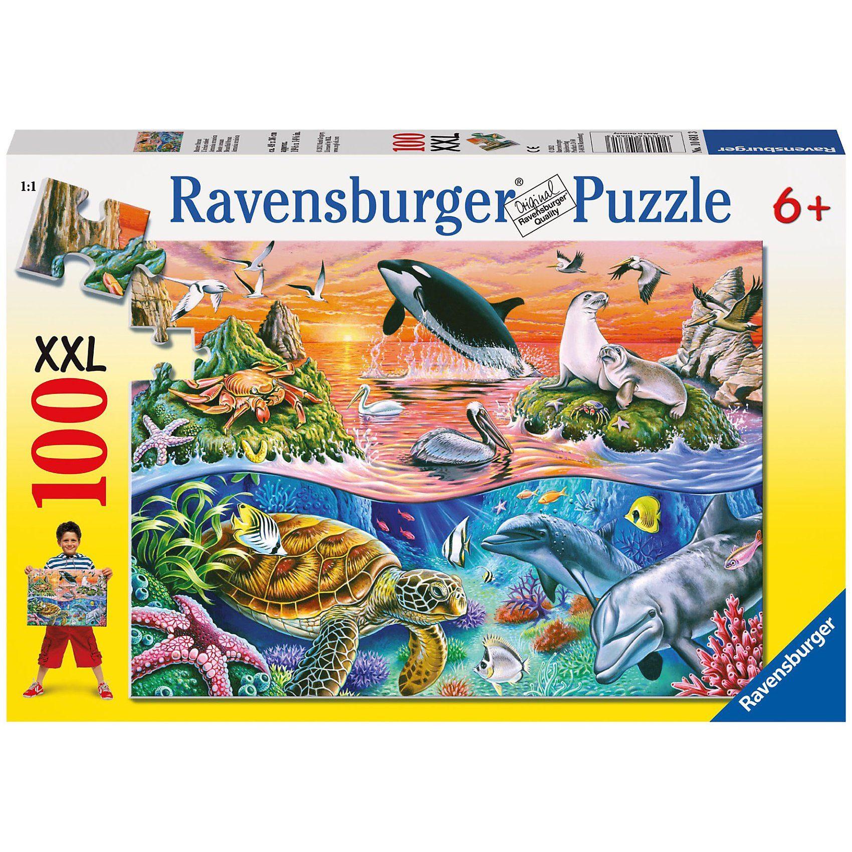 Ravensburger Bunter Ozean - 100 Teile XXL Puzzle