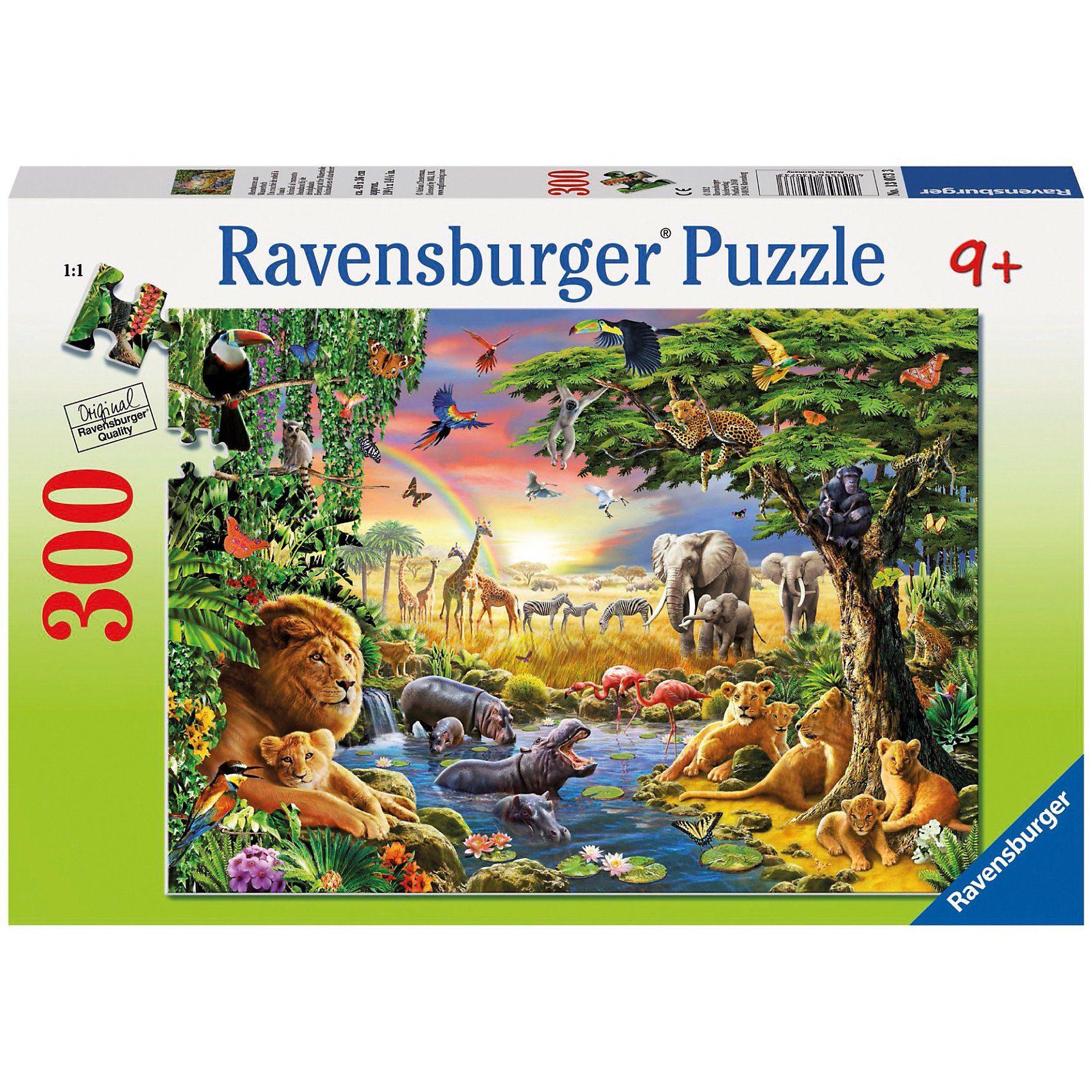 Ravensburger Abendsonne am Wasserloch - 300 Teile Puzzle