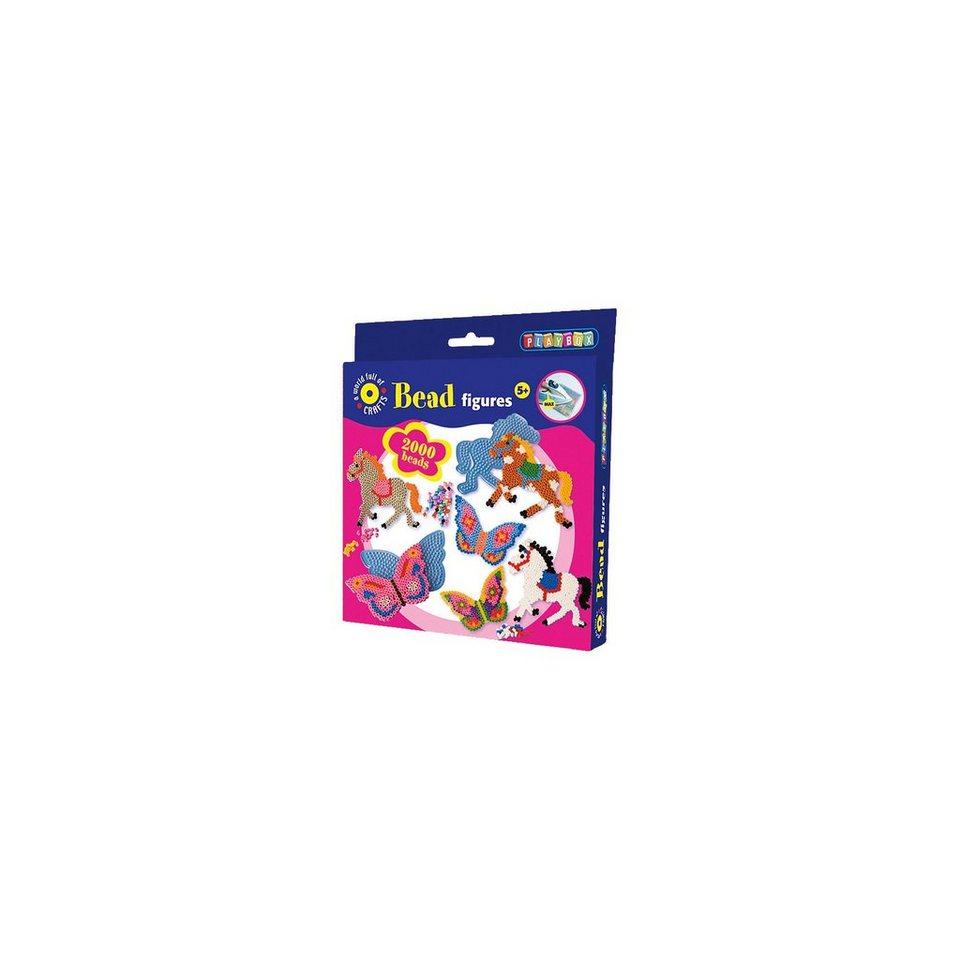 Playbox Bügelperlenset Pferde & Schmetterlinge, 2000 Perlen & Zubehö