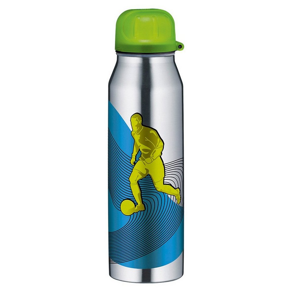 Alfi Isolier-Trinkflasche isoBottle Active Fußball, 500 ml in silber