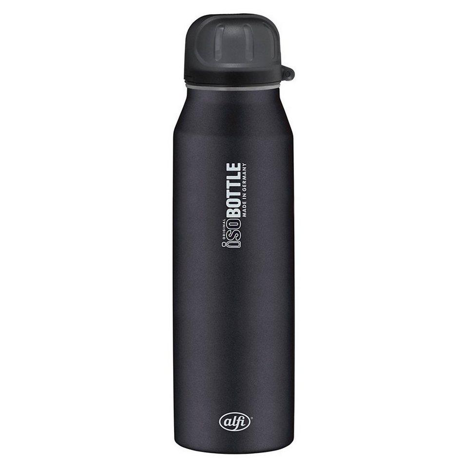Alfi Isolier-Trinkflasche isoBottle Pure schwarz, 500 ml in schwarz