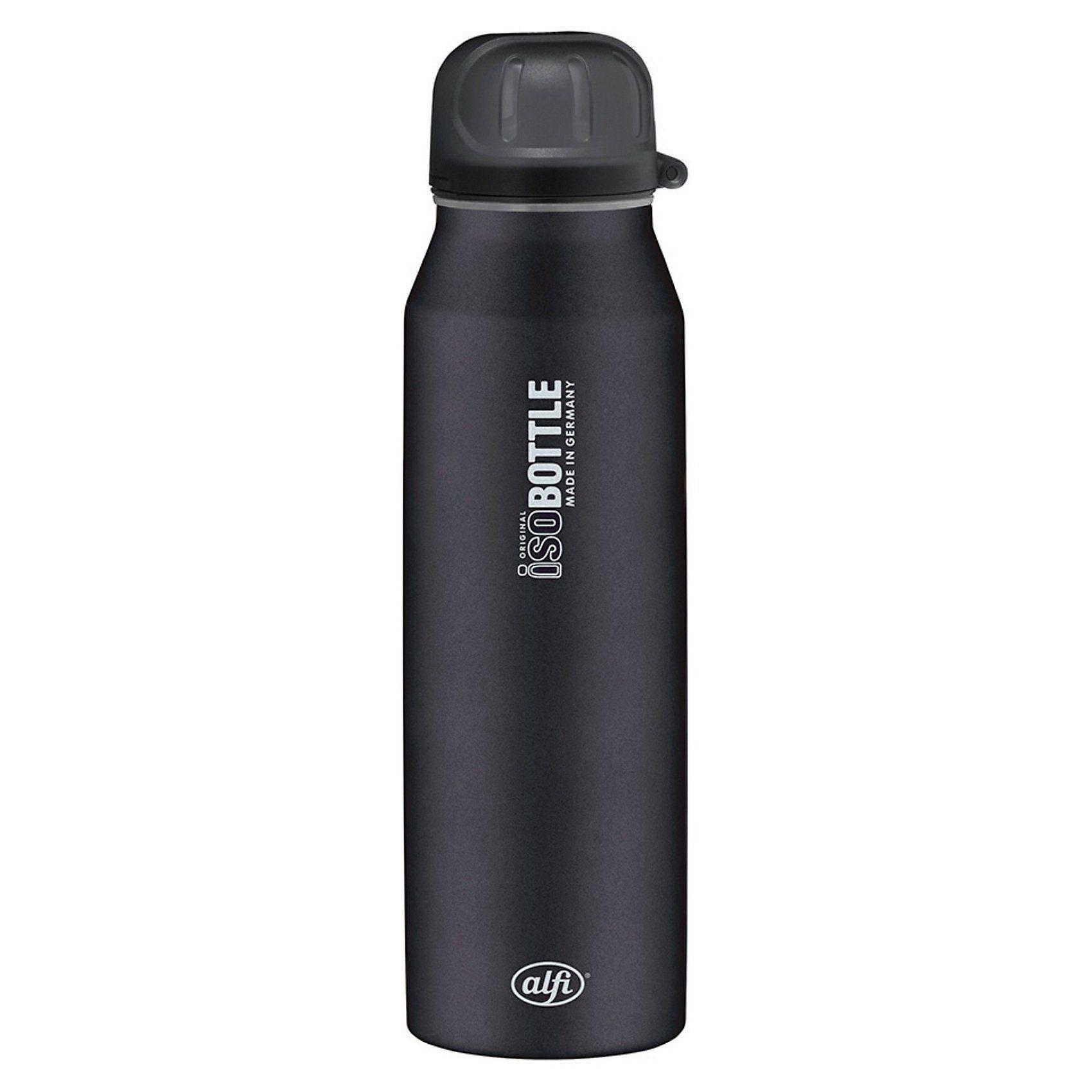 Alfi Isolier-Trinkflasche isoBottle Pure schwarz, 500 ml