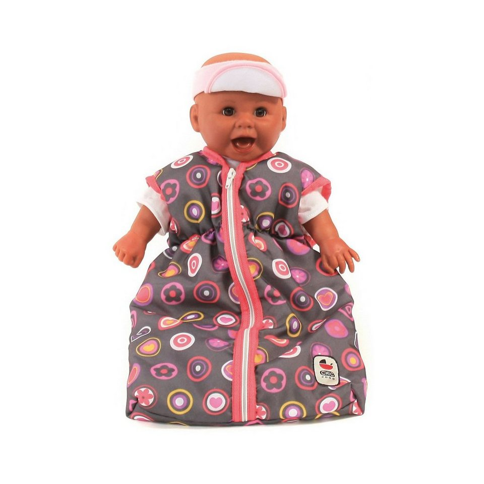 CHIC 2000 Puppenschlafsack, grau-rosa