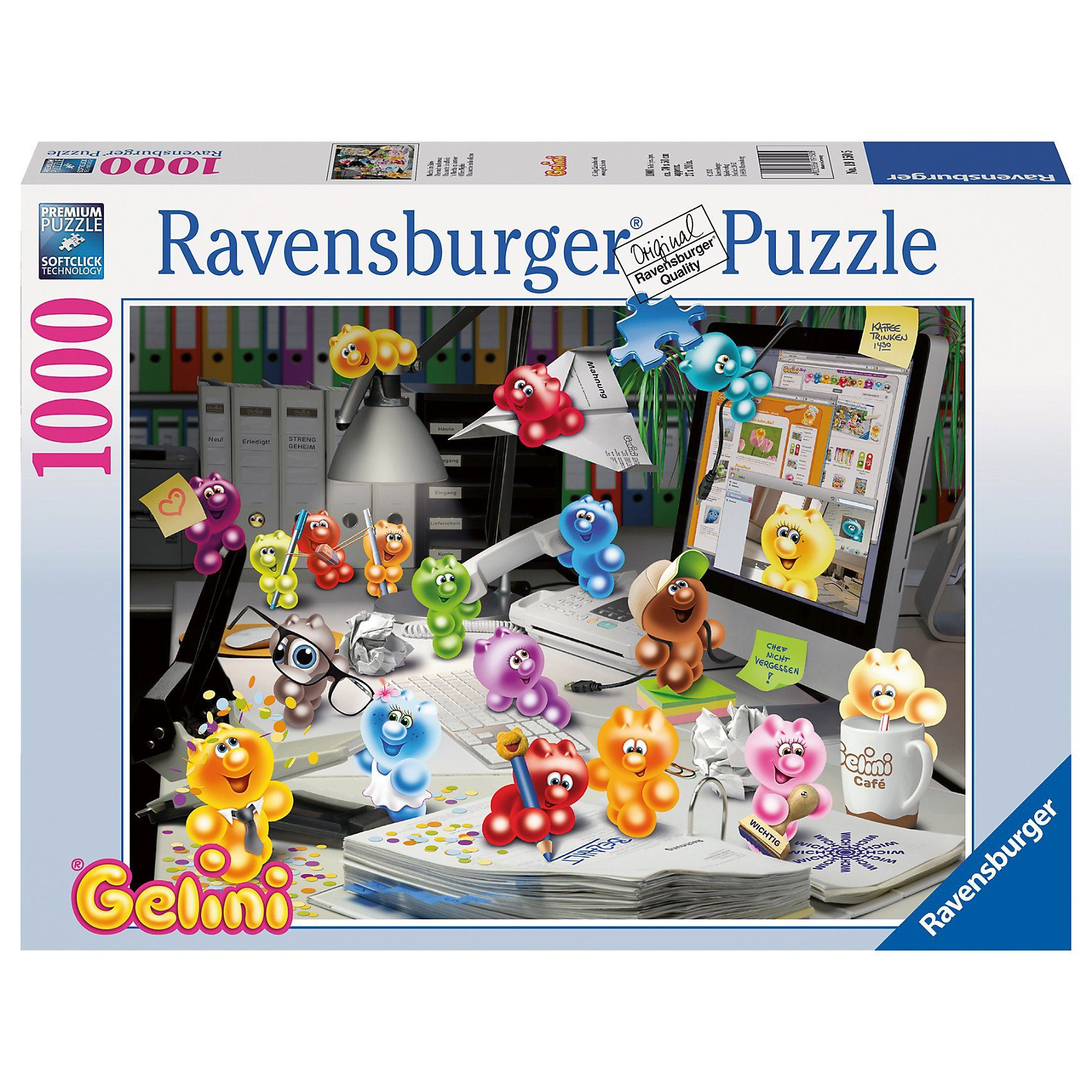 Ravensburger Gelini: Nachts im Büro - 1000 Teile Puzzle