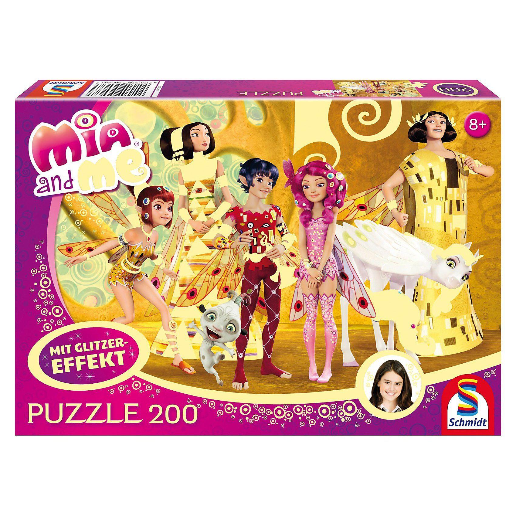 Schmidt Spiele Glitzerpuzzle Mia and Me - Mia im Elfenpalast - 200 Teile