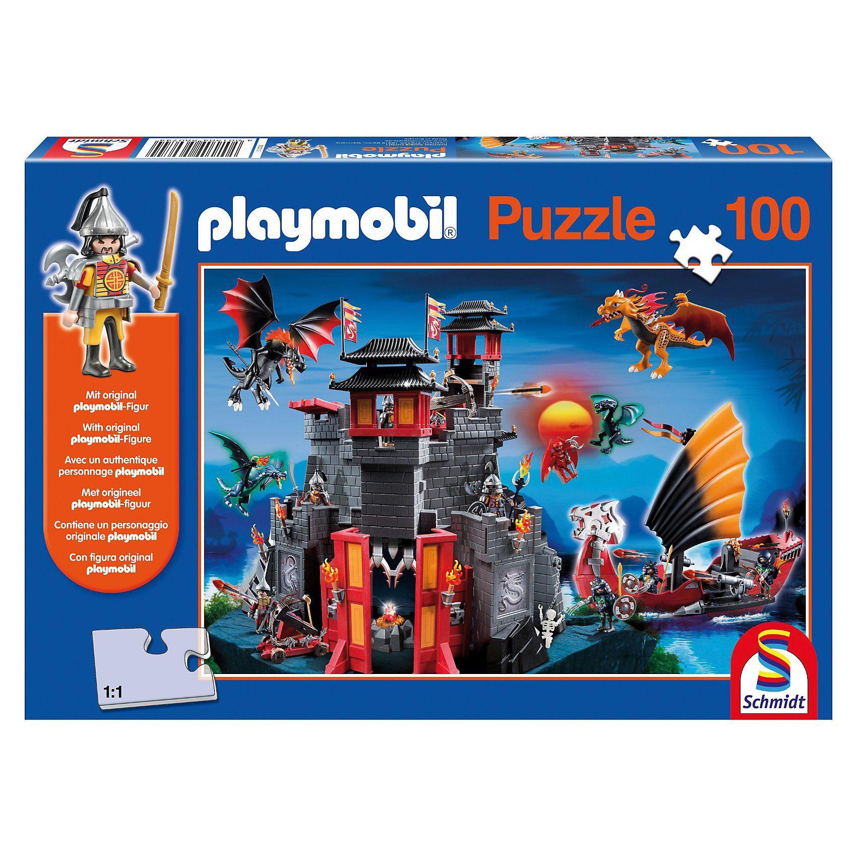 Schmidt Spiele Asia-Drachenland, 100 Teile, Kinderpuzzle Playmobil mit Figu