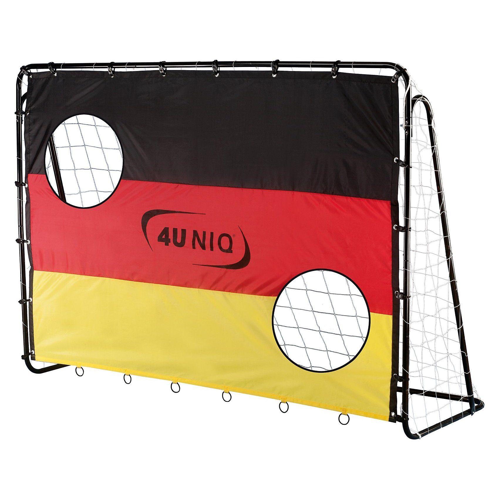 4UNIQ Fußballtor Champion Germany mit Torwand 213 cm