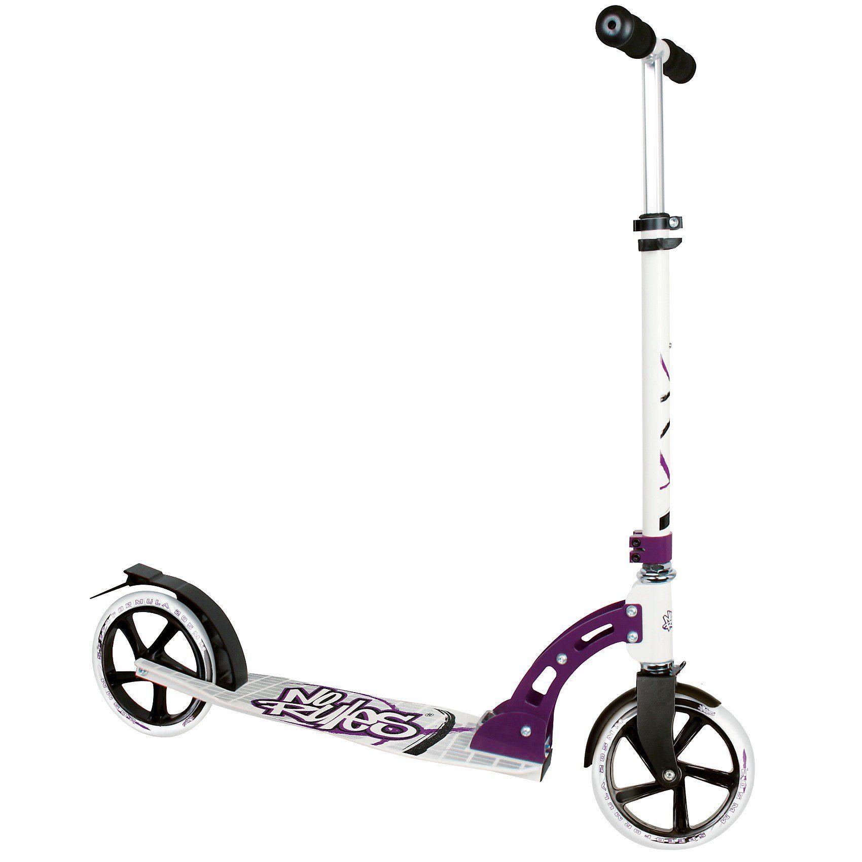 No Rules Scooter 205 mm schwarz/weiß/purple