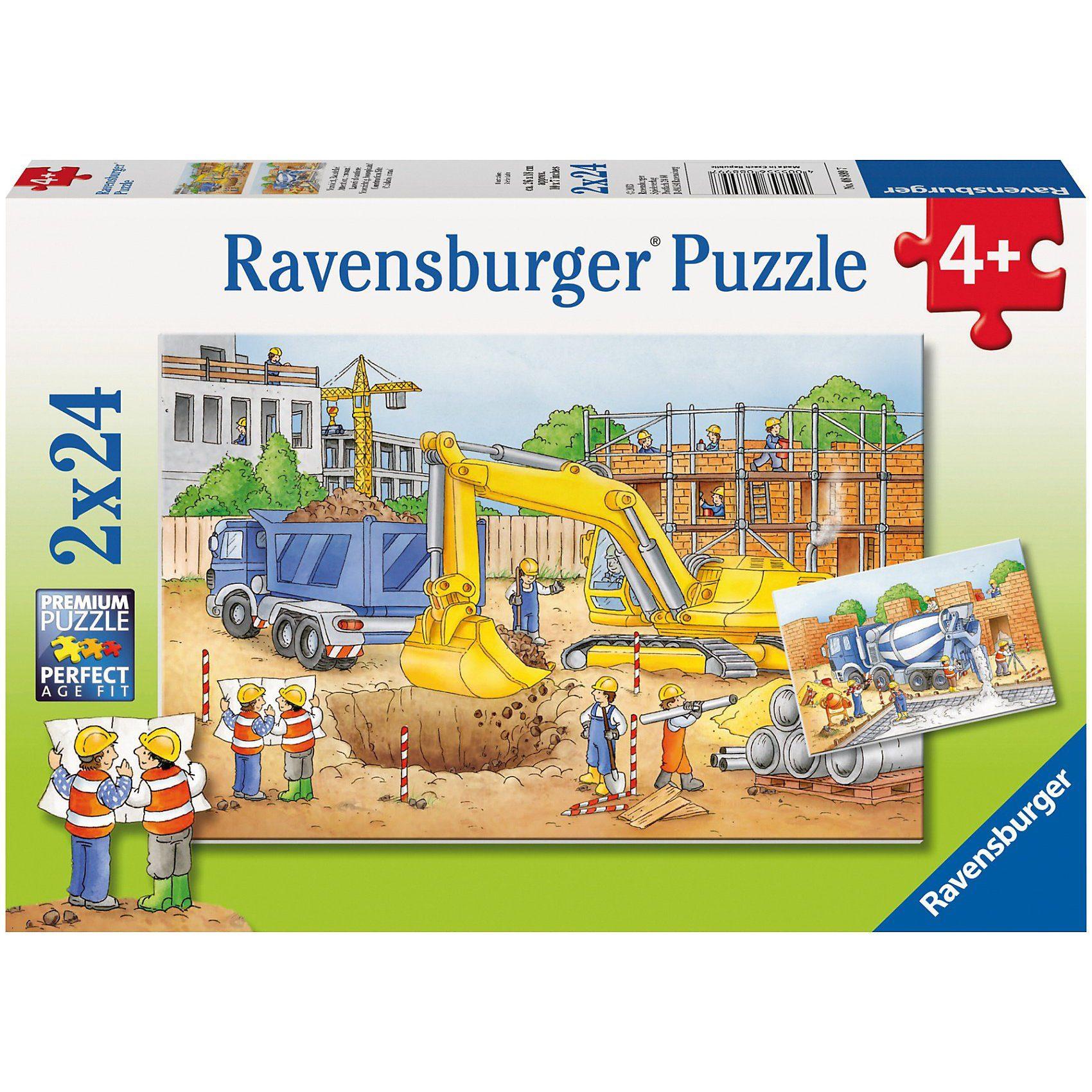 Ravensburger Puzzleset Vorsicht Baustelle! 2 x 24 Teile