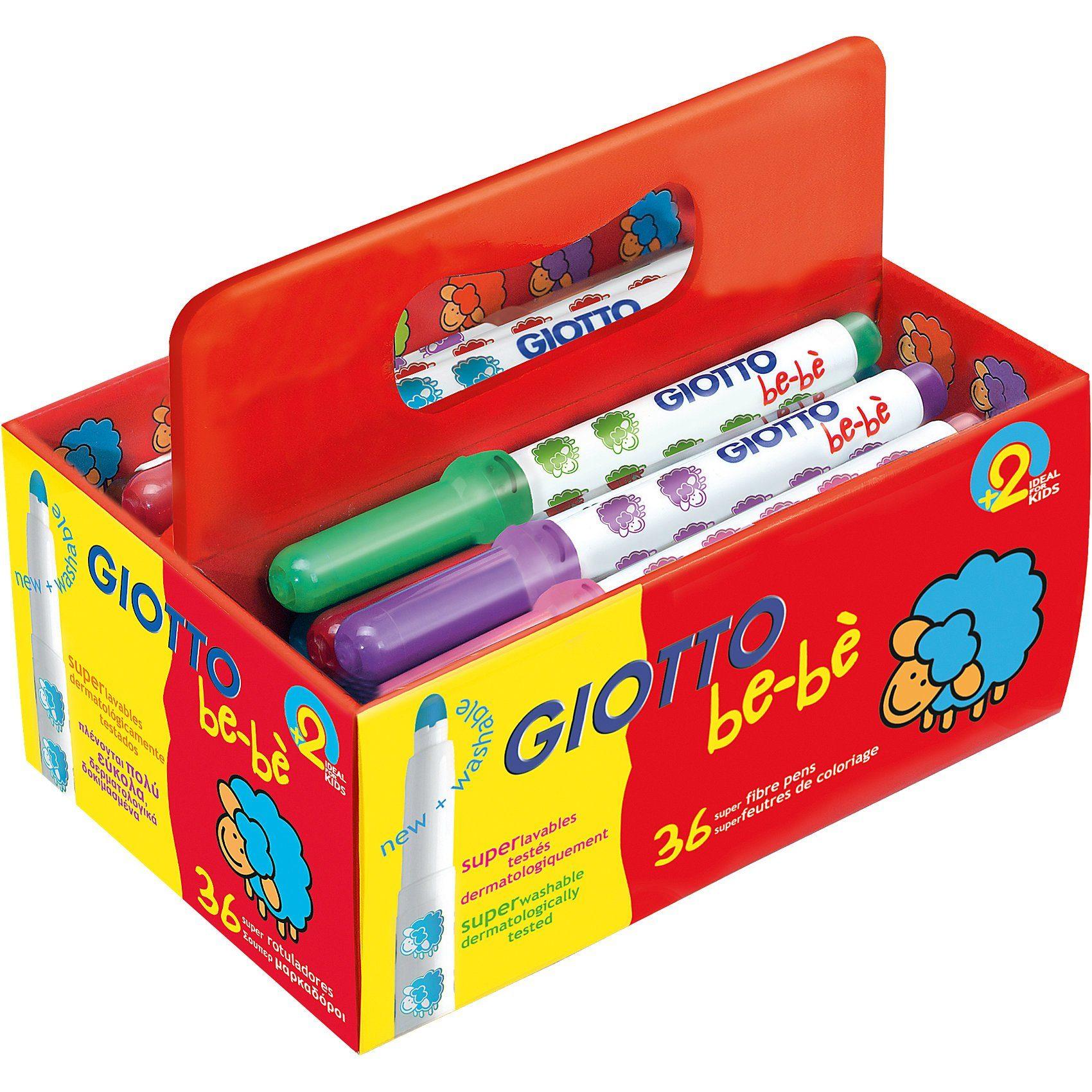 LYRA GIOTTO be-bè Super-Jumbo-Filzstifte XL-Box mit 36 Farben