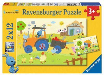 Ravensburger Puzzleset Kikaninchen auf dem Bauernhof 2 x 12 Teile