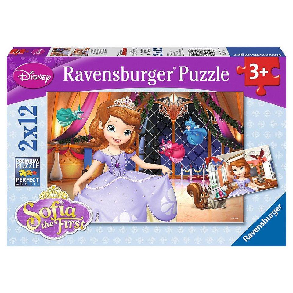 Ravensburger Puzzleset Disney Prinzessin Sofia die Erste 2 x 12 Teile