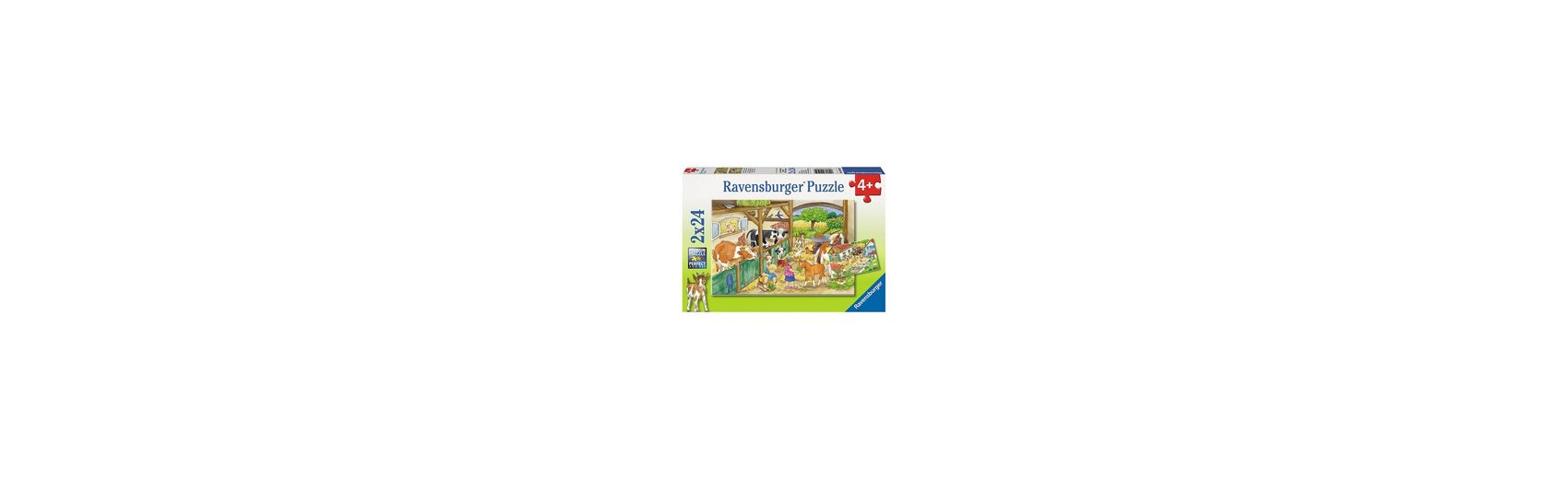 Ravensburger Puzzleset Fröhliches Landleben 2 x 24 Teile