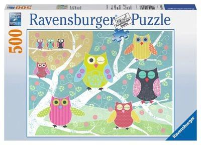 Ravensburger Puzzle Bunte Nachteulen 500 Teile