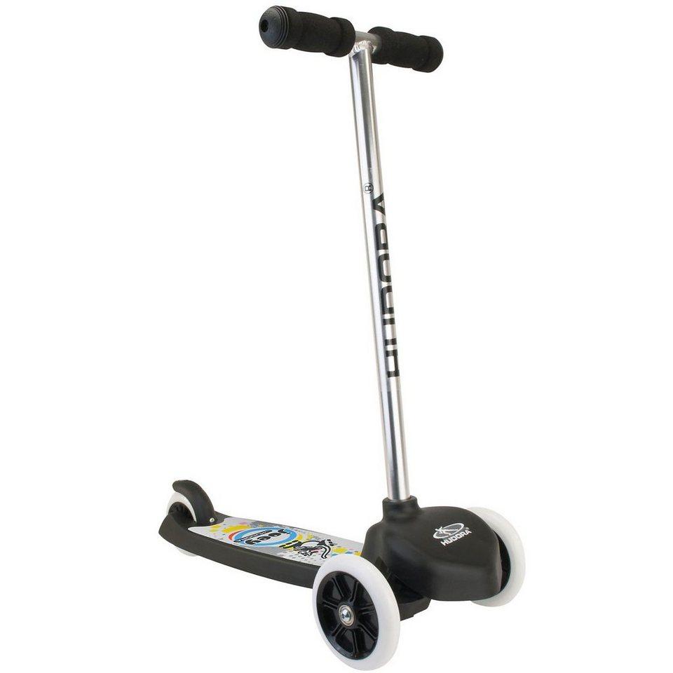 Hudora Mini Scooter T-Bar Schwarz in schwarz