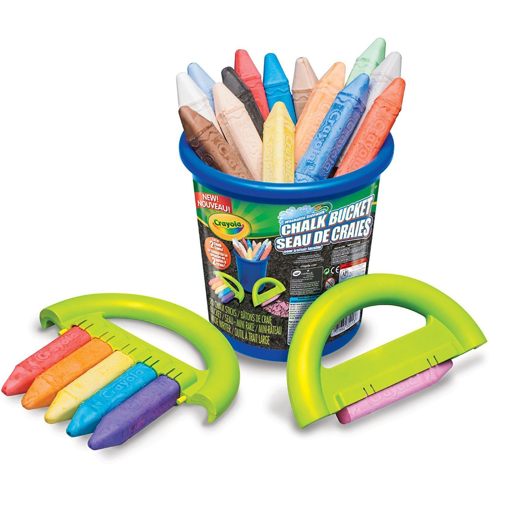 Crayola Straßenkreide, 20 Farben inkl. Halter