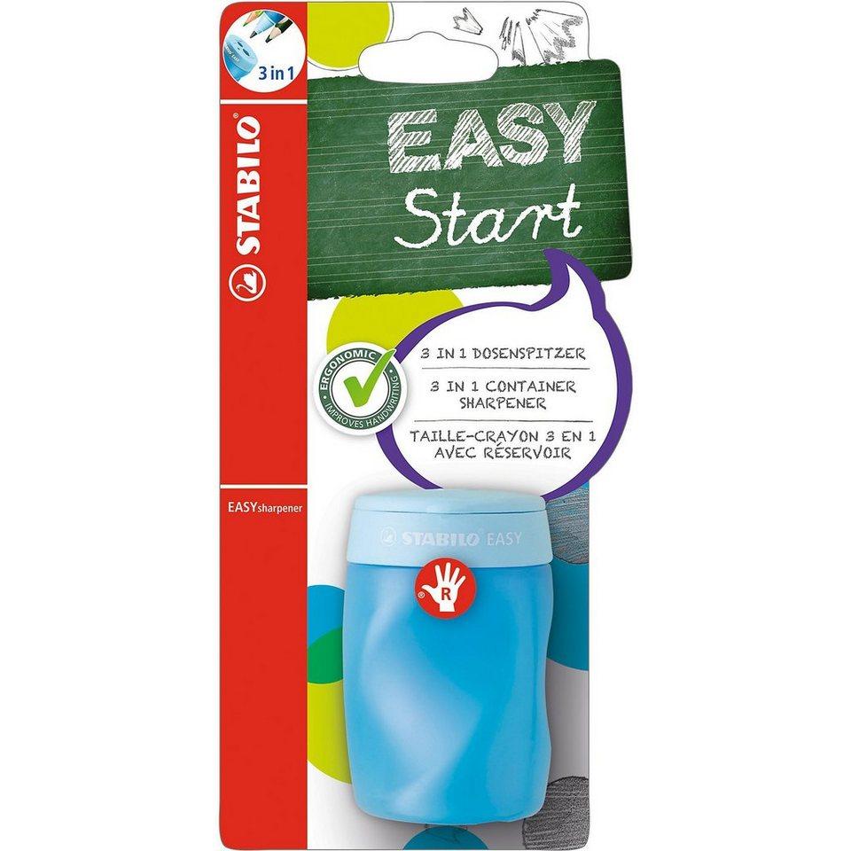 Stabilo Dosenspitzer EASYsharpener 3 in 1 für Rechtshänder blau