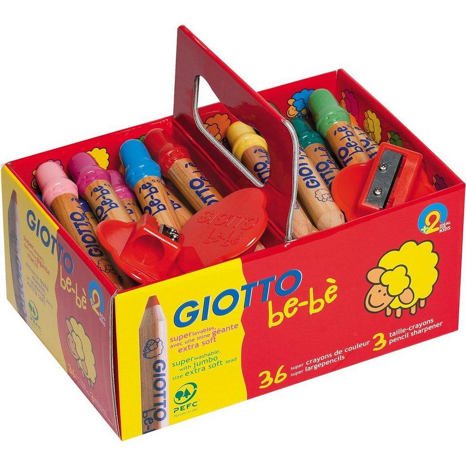 LYRA GIOTTO be-bè Super-Buntstift XL-Box mit 36 Farben und 3 Spit